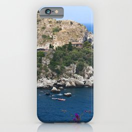 Isola Bella on the bay of Taormina iPhone Case