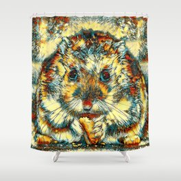 AnimalArt_Hamster_20170901_by_JAMColorsSpecial Shower Curtain