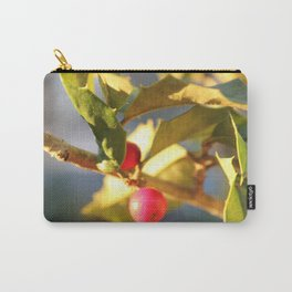 Gold Tipped Holly Carry-All Pouch