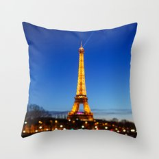 Eiffel Tower and Bokeh. Throw Pillow