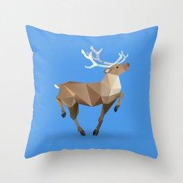 Reindeer. (Prancer) Throw Pillow