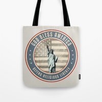 religious Tote Bags featuring Defend Religious Liberty by politics