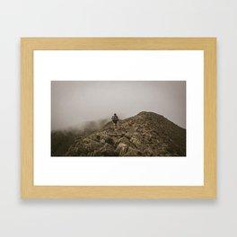 Foggy Knife Edge Framed Art Print