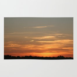 Peaceful sunset Rug
