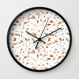 Light Terrazzo Wall Clock