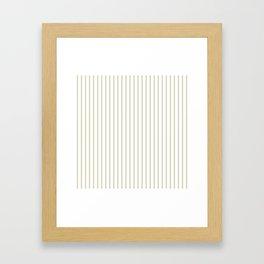 Spanish Moss Green Pinstripe on White Framed Art Print