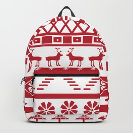 Modern Fair Isle Backpack