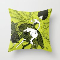 dress Throw Pillows featuring Dress by Oeilbleu