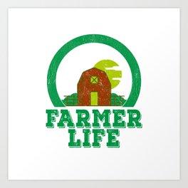 Farmer Life Earth Day 2019 Art Print
