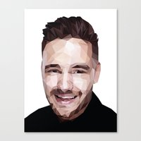 liam payne Canvas Prints featuring Liam Payne - One Direction by jrrrdan