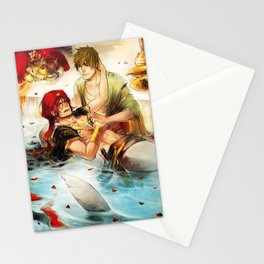 Arabian merman Stationery Cards