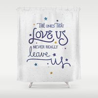 dumbledore Shower Curtains featuring Never leave us by Earthlightened