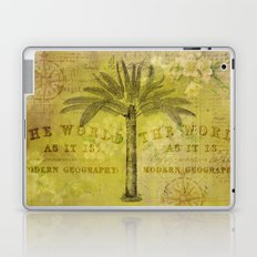 Vintage Journey palmtree typography travel collage Laptop & iPad Skin
