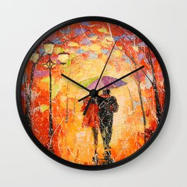 Walk with the beloved Wall Clock