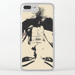 NSFW! Girls love to play naughty, very, very naughty... Clear iPhone Case