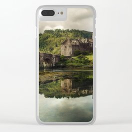 Landscape with an old castle Clear iPhone Case