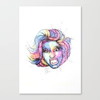 nicki Canvas Prints featuring Nicki by TREE