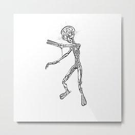 Alien Monster Sketch Metal Print