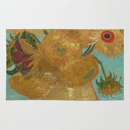 Sunflowers by Vincent Van Gogh Rug