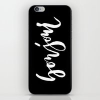 bonjour iPhone & iPod Skins featuring Bonjour by The Fine Letter Co.