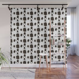 Messy dry curly hair pattern Wall Mural