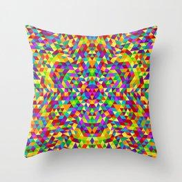 Happy triangle mandala 2 Throw Pillow