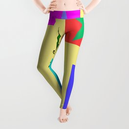 Dragon with Stars in Boxes Leggings