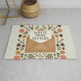 Write More Letters Rug