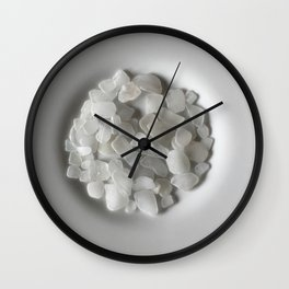 White on White on White Wall Clock