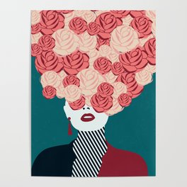 Women with roses Poster