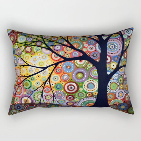 Abstract Landscape Original Painting...VISIONS OF NIGHT, by Amy Giacomelli Rectangular Pillow