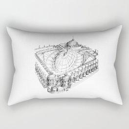 Temple . XVIII Century. Drawing by Tereza Del Pilar Rectangular Pillow