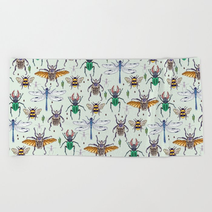 lucky insects Beach Towel