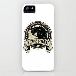 WV Black Bear Live Free T-Shirt iPhone Case