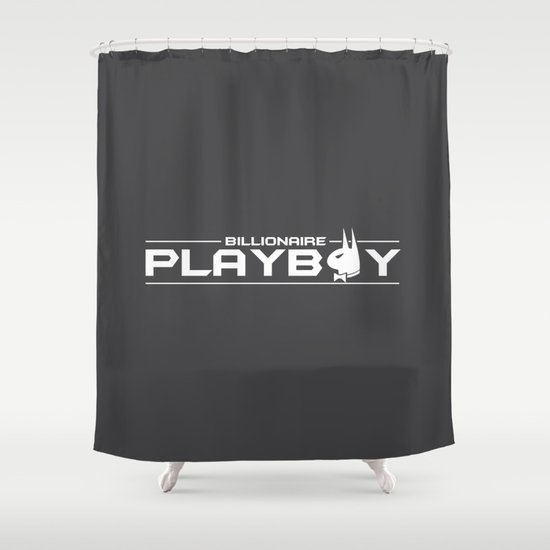 Billionaire Playboy Shower Curtain