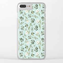 Minted Cotton Clear iPhone Case