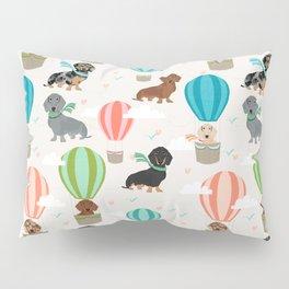 Dachshund hot air balloon dog cute design fabric doxie pillow decor phone case Pillow Sham