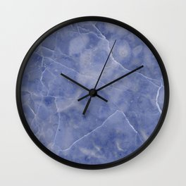Marble Texture - Icy Blue Marble Wall Clock