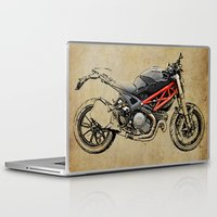 ducati Laptop & iPad Skins featuring Ducati Monster 796 by Larsson Stevensem