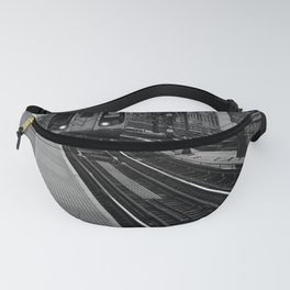 Black and White J Train Fanny Pack