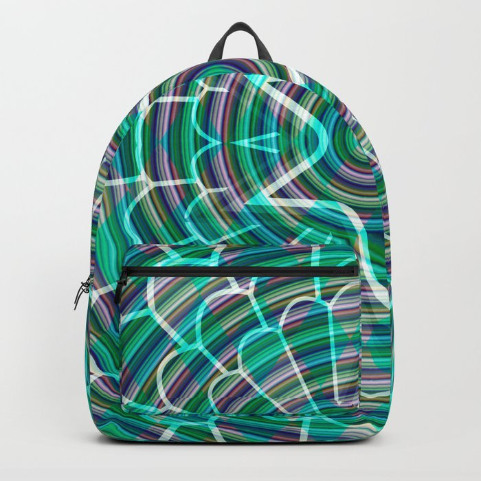 Green spiral abstraction Backpack