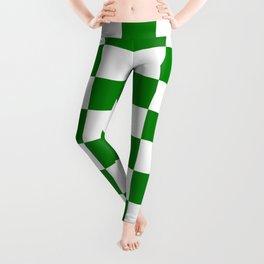 Checkered - White and Green Leggings