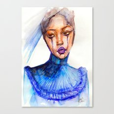Lady Crying Canvas Print