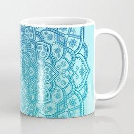 Mandala Seafoam Blue Aqua Ombre Bohemian Embellishments Coffee Mug