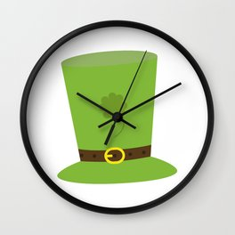 sankt patricks day hat Wall Clock