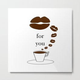 Kiss for you Metal Print