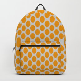 Gold Oval Pattern on Gray Background Backpack