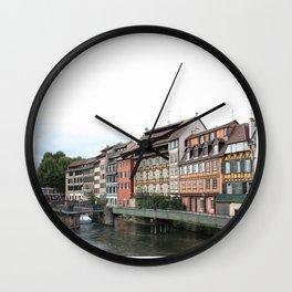 row of houses Wall Clock