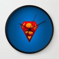 superhero Wall Clocks featuring SUPERHERO by Acus