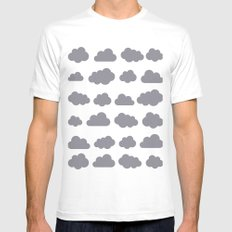 Grey clouds winter time art Mens Fitted Tee White MEDIUM
